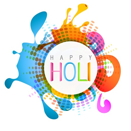 hindues: vector colorido indian festival de holi fondo Vectores