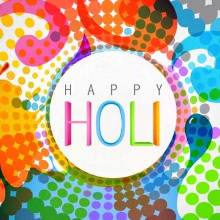 happy holi: vector colorful background of holi festival