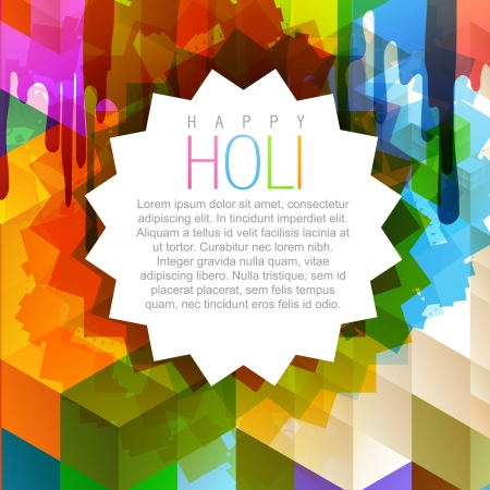 hindus: vector illustration of beautiful indian festival holi background