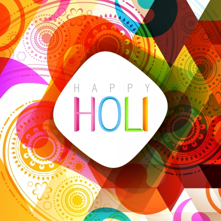 vector indian style holi background design Vector