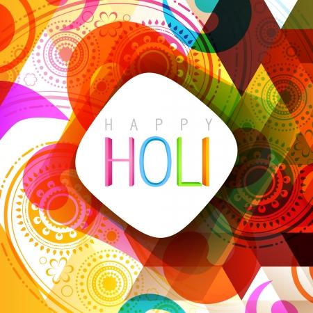happy holi: vector indian style holi background design