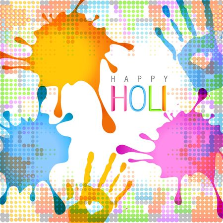 hindus: beautiful colorful holi background design illustration Illustration