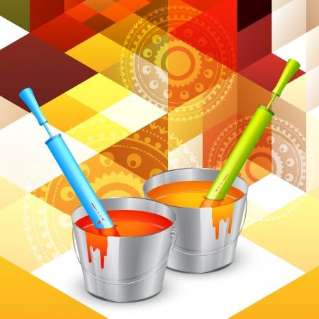 hindus: colorful holi colors with pichkari