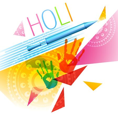hindus: abstract style colorful holi festival background