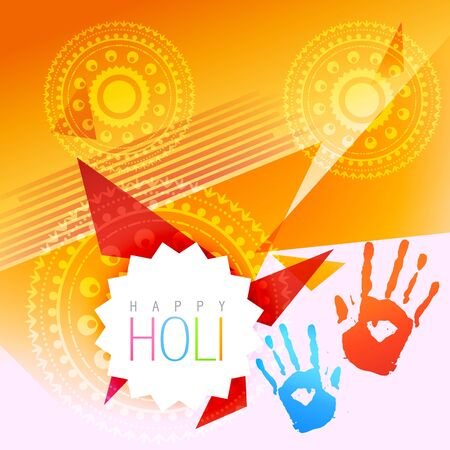 rang: beautiful holi festival background with space for your text Illustration