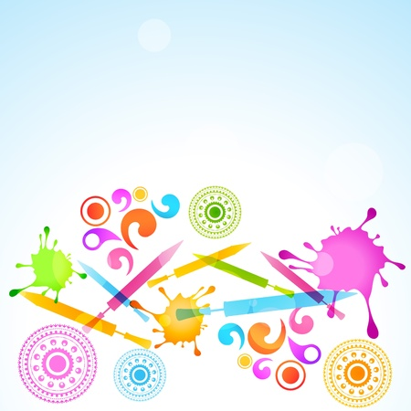 dharma: vector colorful background of holi festival
