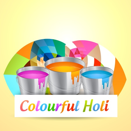 hindus: holi festival colors vector background