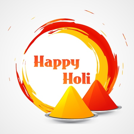 vector happy holi design illustration Stock Vector - 18075439
