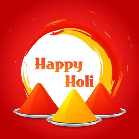 hindus: beautiful colorful holi background design illustration Illustration
