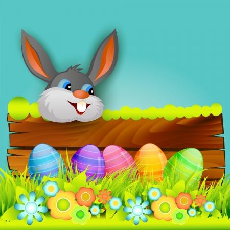conejo caricatura: vector conejito de Pascua dise�o de fondo Vectores