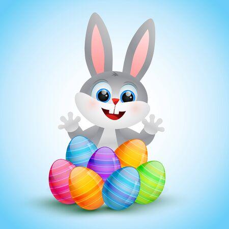 silhouette lapin: vecteur mignon lapin de Pâques illustration