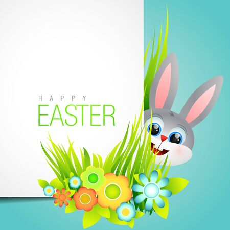 vector easter bunny background design Vector