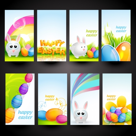 vector set of easter cards Vector
