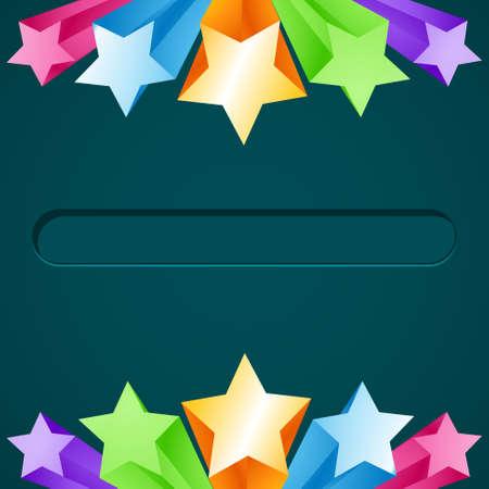 colorful star background design illustration Stock Vector - 18401034