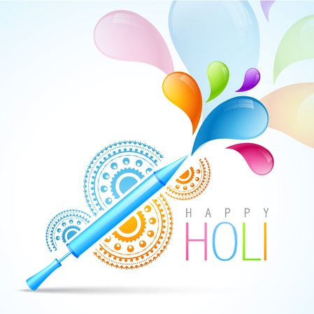 colorful indian holi festival background Vector