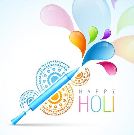 happy holi: colorful indian holi festival background