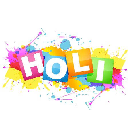hindus: splash of colorful festival holi