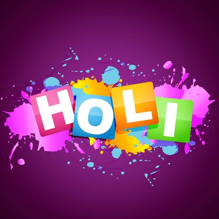 vector holi festival background design Vector
