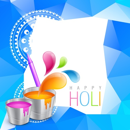 hindus: colorful holi festival background design Illustration