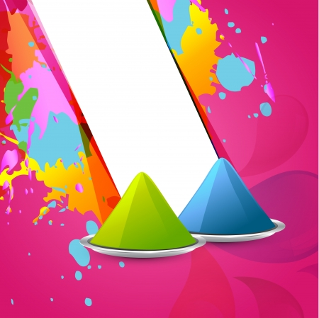 holi festival gulal colors background Vector