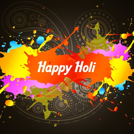 holi color splashes background Vector