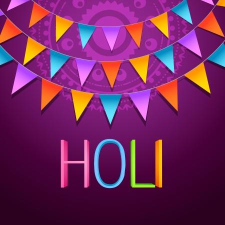 hindues: holi festival de dise�o de fondo Vectores