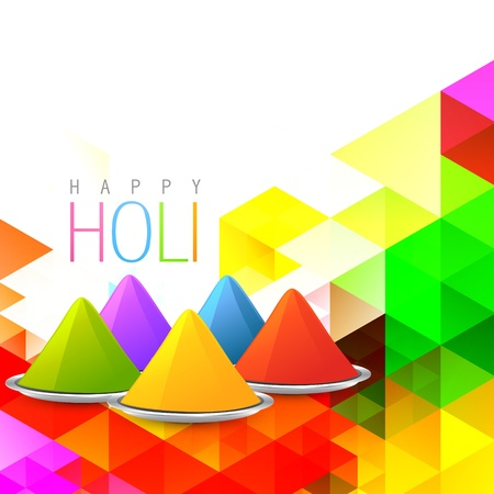holi gulal on colorful background Vector