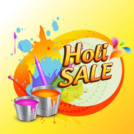 holi sale banner design background Vector