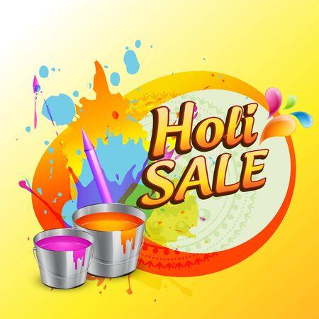 hindus: holi sale banner design background Illustration