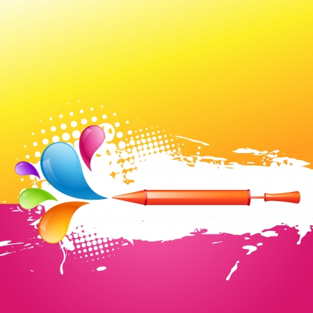 holi festival background with pichkari Vector