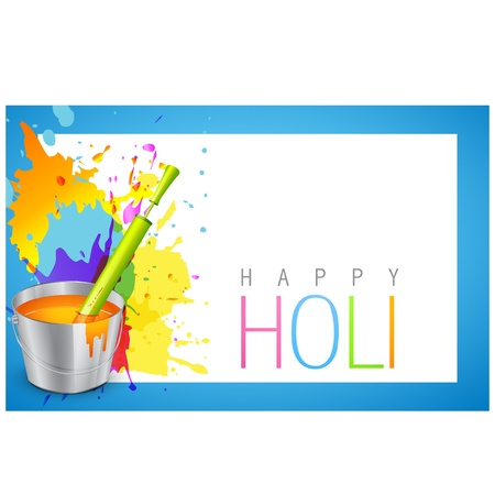 indian festival holi background illustration Stock Vector - 18563198