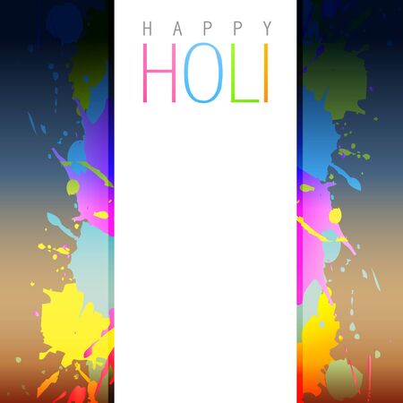 rang: holi background with space for your text Illustration