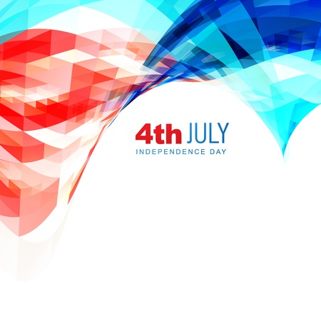 4th of july: american independence day vector background