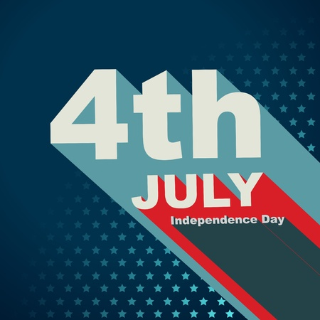 vector 4th of july text art Stock Vector - 19979429