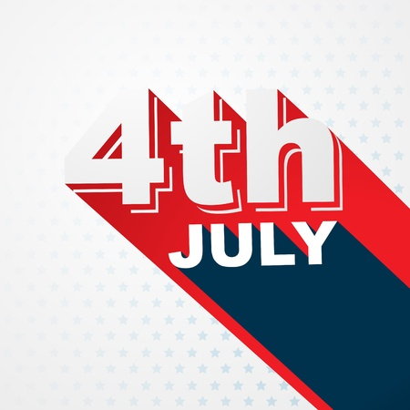 stylish 4th of july text design Vector