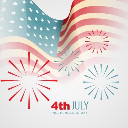 네번째: 미국의 독립 기념일 벡터 배경
