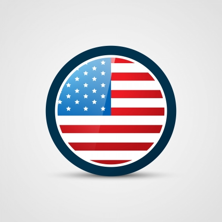 amrican flag badge vector design Stock Vector - 19978767