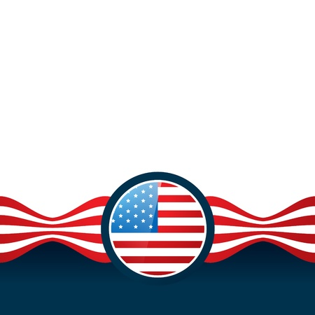 american flag vector design with space for your text Stock Vector - 19978682