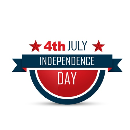 memorial: american independence day vector label design