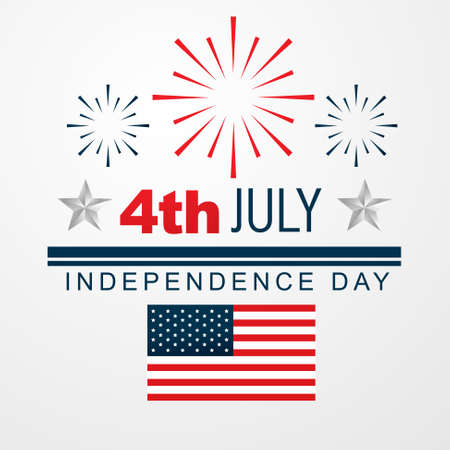 vector 4th of july american independence day design Vector