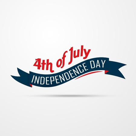 fourth of july: stylish american independence day design Illustration