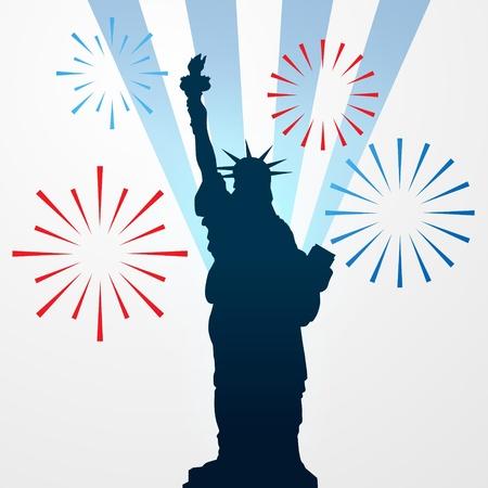 cracker: vector statue of liberty shillouette Illustration