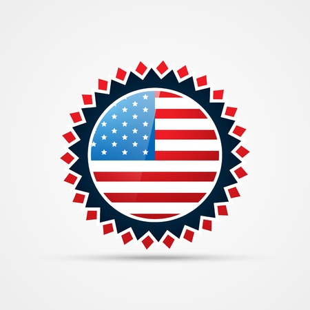 american independence day vector badge design Stock Vector - 19978761