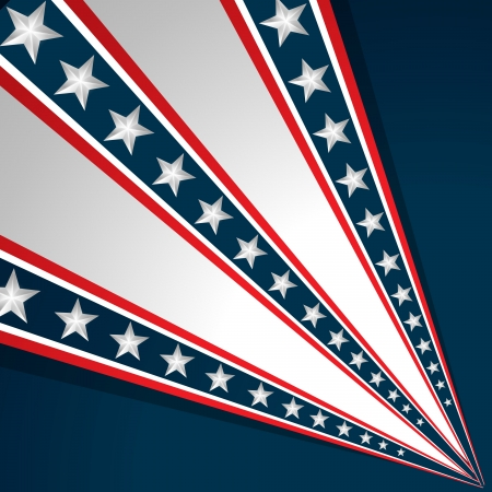 stars and stripes: american independence day vector design background Illustration