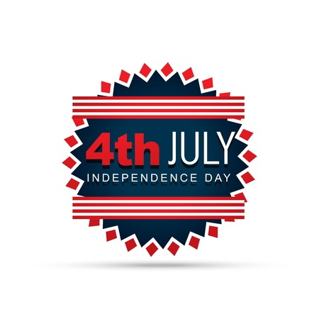 stylish 4th of july badge design Stock Vector - 19978672