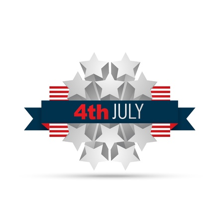 vector 4th of july label design Stock Vector - 19969625