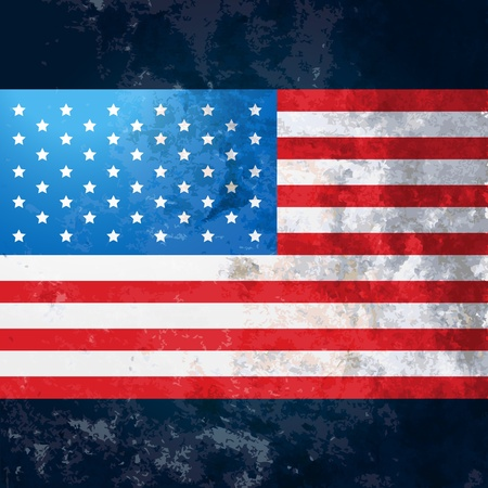 united states flag: vector american flag in grunge style