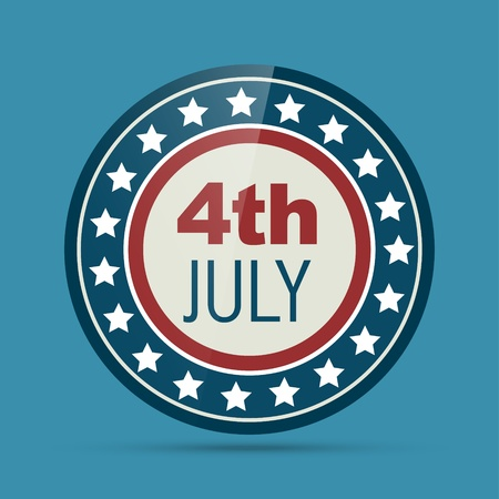 vector badge of 4th of july Stock Vector - 19978661