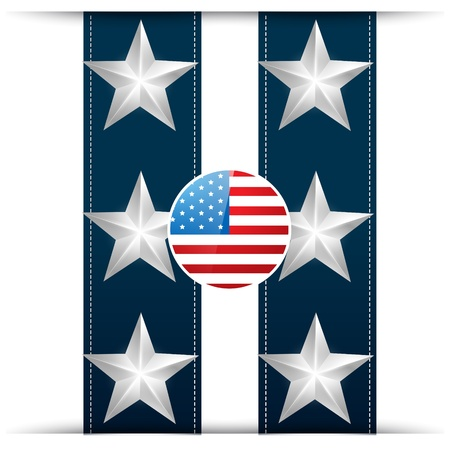 patriotic america: vector stylish american flag design Illustration