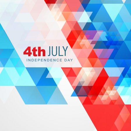 abstract style 4th of july american independence day background